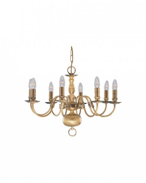 Searchlight Flemish 8 Light Traditional Chandelier 1019-8AB