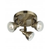 Searchlight Focus 3 Light Modern Spotlight Fitting 1543AB