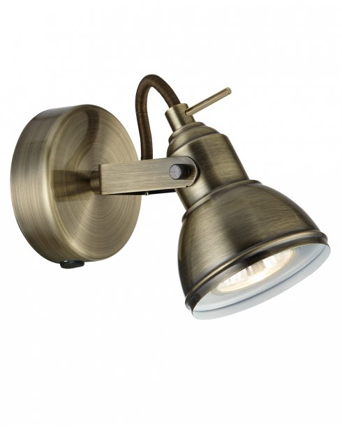 Searchlight Focus Single Light Modern Wall Mounted Spotlight 1541AB