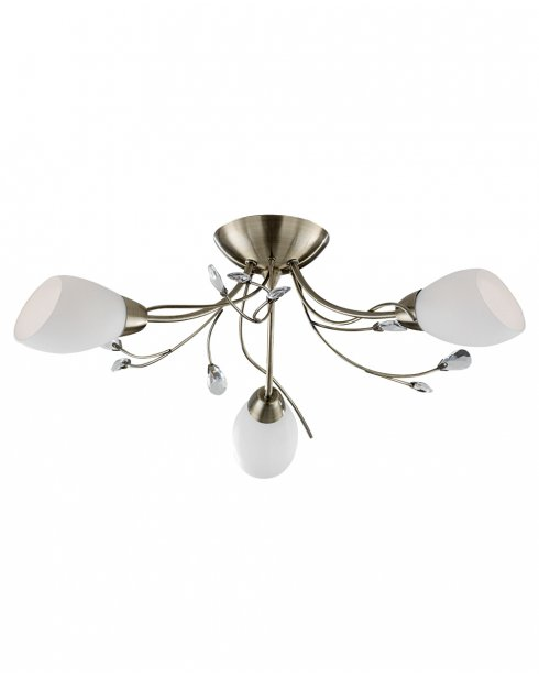 Searchlight Gardenia 3 Light Traditional Semi-Flush Fitting 1763-3AB