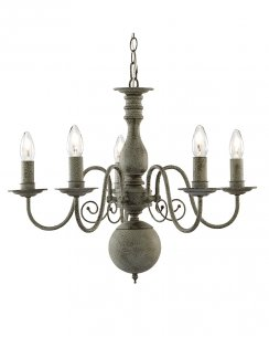 Searchlight Greythorne 5 Light Traditional Chandelier 2265-5GY