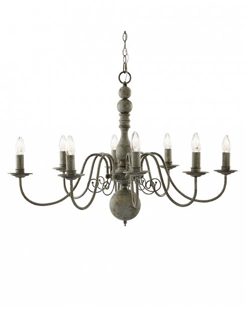 Searchlight Greythorne 8 Light Traditional Chandelier 2268-8GY