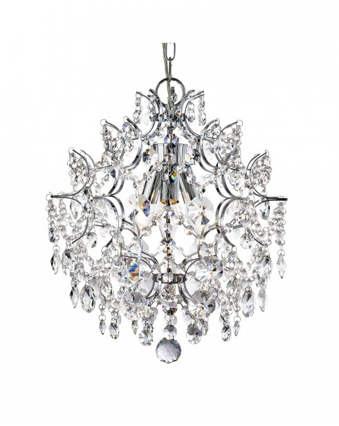 Searchlight Harrietta 3 Light Crystal Pendant Light 7673-3CC