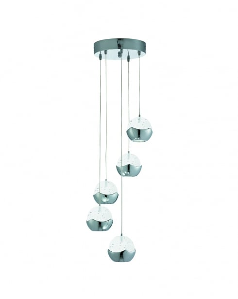 Searchlight Iceball Modern Chrome Pendant Light 7355-5CC