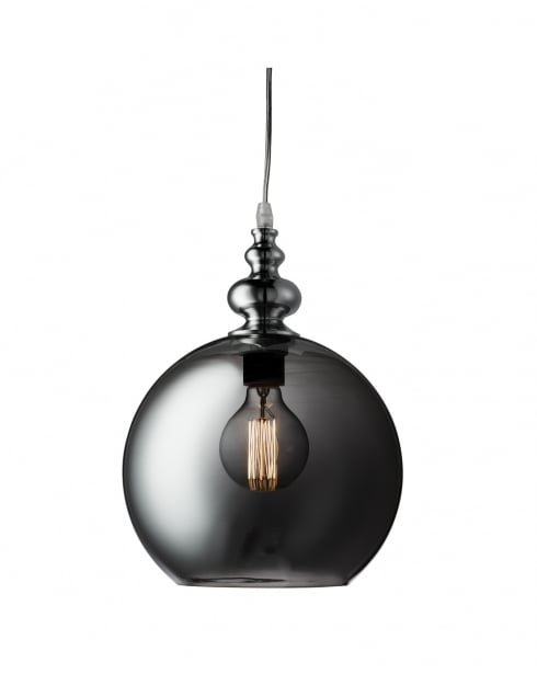 Searchlight Indiana Traditional Chrome Pendant Light 2020SM