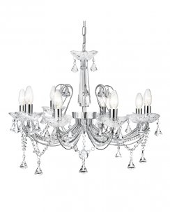 Searchlight Lafayette 8 Light Crystal Chandelier 1398-8CC