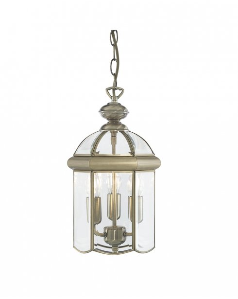 Searchlight Lantern 3 Light Traditional Pendant Light 7133AB