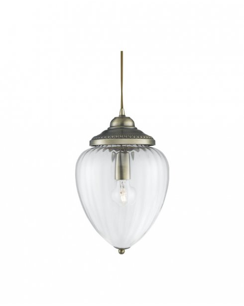 Searchlight Lantern Single Light Traditional Pendant Light 1091AB