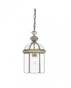 Searchlight Lantern Single Light Traditional Pendant Light 7131AB