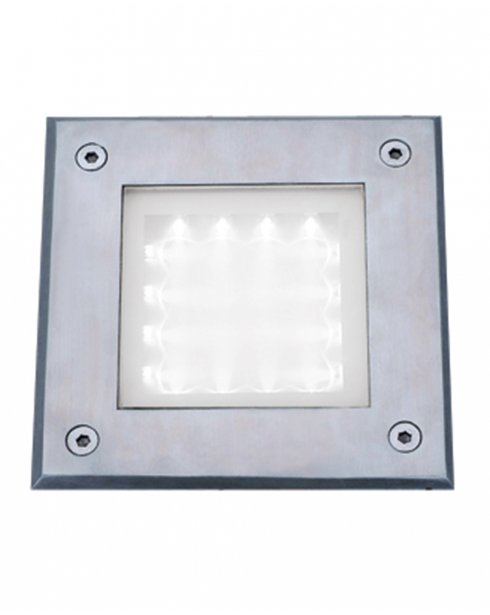Searchlight LED Walkover 16 Light Modern Recessed Outdoor Light 9909WH