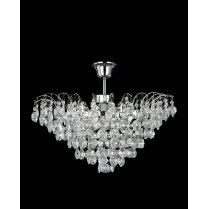 Searchlight Limoges 3 Light Crystal Semi-Flush Fitting 9070-48CC