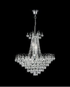 Searchlight Limoges 6 Light Crystal Pendant Light 9071-52CC