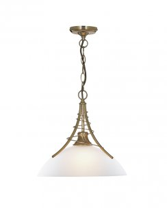 Searchlight Linea Single Light Traditional Pendant Light 5224AB