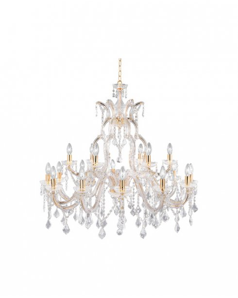 Searchlight Marie Therese 18 Light Crystal Chandelier 1214-18