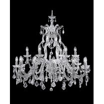 Searchlight Marie Therese 18 Light Crystal Chandelier 3314-18