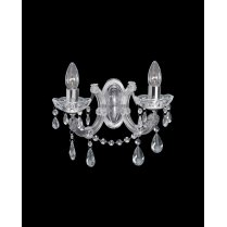 Searchlight Marie Therese 2 Light Crystal Decorative Wall Light 399-2