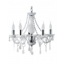Searchlight Marie Therese 5 Light Crystal Chandelier 1985-5WH