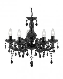 Searchlight Marie Therese 5 Light Traditional Chandelier 1455-5BK
