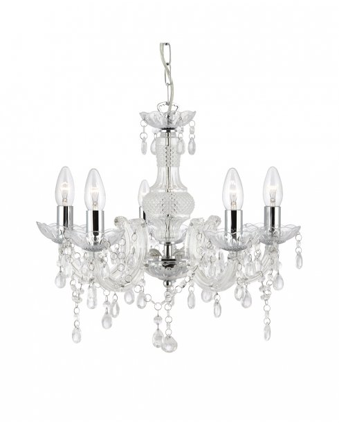 Searchlight Marie Therese 5 Light Traditional Chandelier 1455-5CL