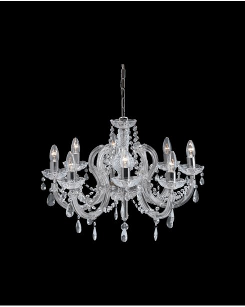 Searchlight Marie Therese 8 Light Crystal Chandelier 399-8
