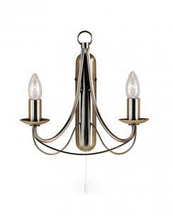 Searchlight Maypole 2 Light Traditional Decorative Wall Light 6342-2AB