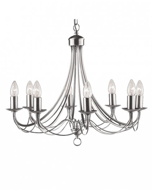 Searchlight Maypole 8 Light Traditional Chandelier 6348-8SS