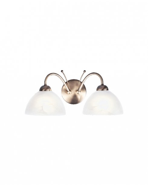 Searchlight Milanese 2 Light Traditional Decorative Wall Light 1132-2AB