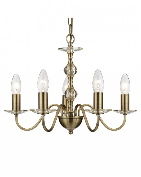 Searchlight Monarch 5 Light Traditional Chandelier 3455-5AB
