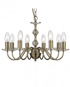 Searchlight Monarch 8 Light Traditional Chandelier 3458-8AB