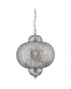Searchlight Morrocan Single Light Traditional Pendant Light 9221-1SS