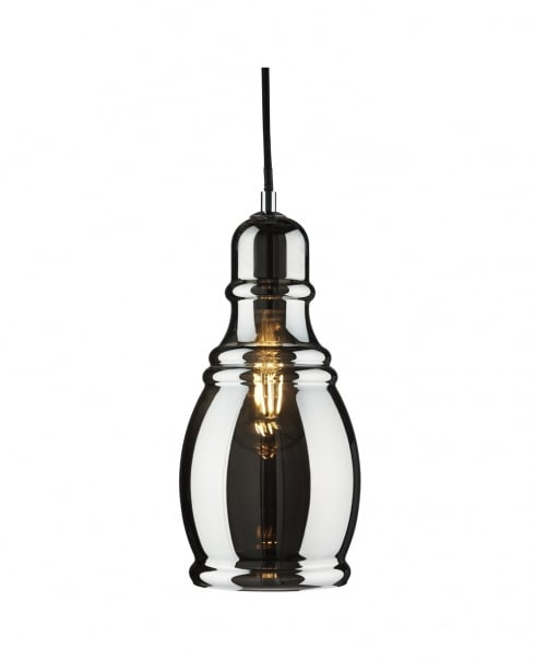 Searchlight Olsson Modern Chrome Pendant Light 3604SM