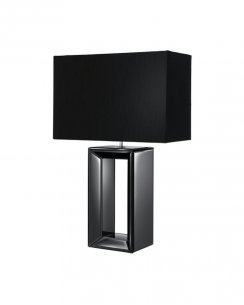 Searchlight Reflections Single Light Modern Incidental Table Lamp 1610BK