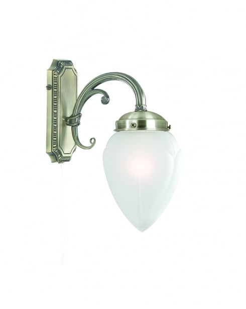 Searchlight Regency Traditional Brass Decorative Wall Light 1991-1AB