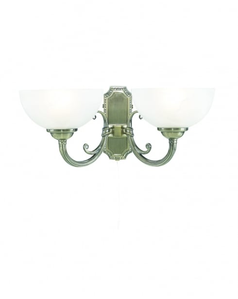 Searchlight Regency Traditional Brass Decorative Wall Light 3772-2AB