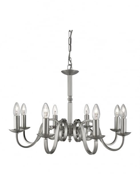 Searchlight Richmond Traditional Steel Chandelier 1508-8SS
