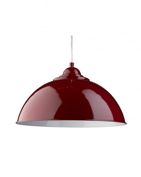 Searchlight Sanford Modern Red Pendant Light 8140RE