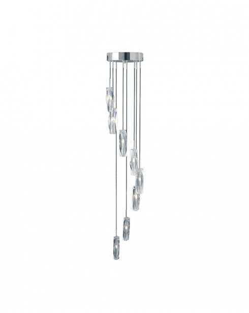 Searchlight Sculptured Ice 8 Light Modern Pendant Light 888-8