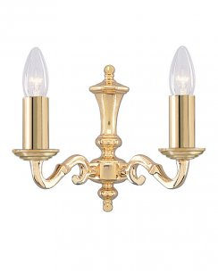 Searchlight Seville 2 Light Traditional Decorative Wall Light 2172-2NG