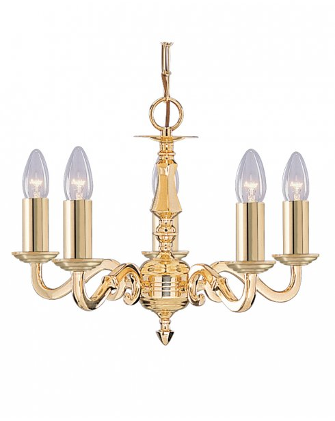 Searchlight Seville 5 Light Traditional Chandelier 2175-5NG
