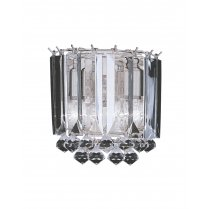 Searchlight Sigma 2 Light Crystal Decorative Wall Light 6711-2CC
