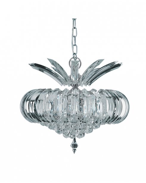 Searchlight Sigma 5 Light Crystal Pendant Light 30020CC