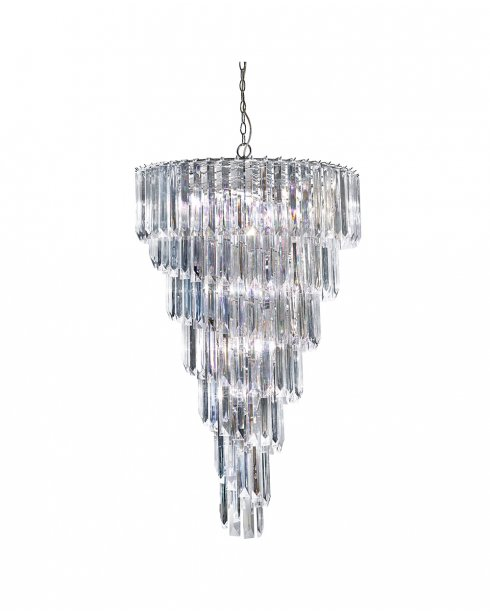 Searchlight Sigma 9 Light Crystal Pendant Light 7999-9CC