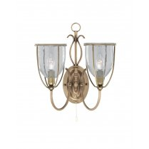 Searchlight Silhouette 2 Light Traditional Decorative Wall Light 6352-2AB