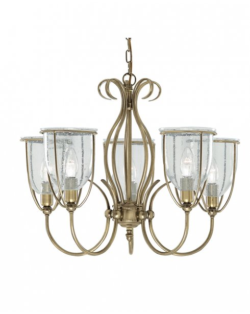 Searchlight Silhouette 5 Light Traditional Multi-Arm Pendant 6355-5AB