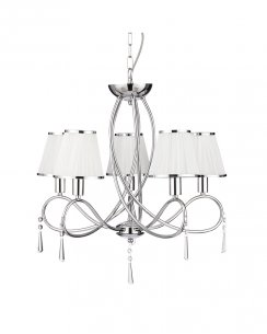 Searchlight Simplicity 5 Light Traditional Multi-Arm Pendant 1035-5CC