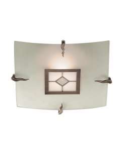 Searchlight Tiffany Single Light Tiffany Flush Ceiling Fitting 4207-30