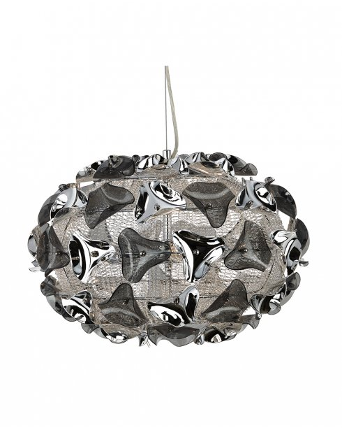 Searchlight Triangle 3 Light Modern Pendant Light 5803-3SM