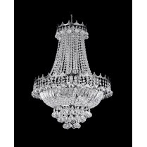 Searchlight Versailles 5 Light Crystal Semi-Flush Fitting 9112-52CC