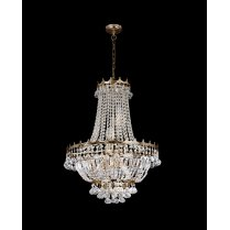 Searchlight Versailles 9 Light Crystal Chandelier 9112-52GO