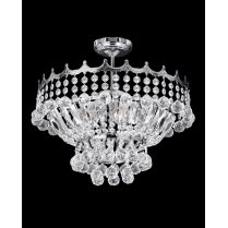 Searchlight Versailles 9 Light Crystal Semi-Flush Fitting 9113-39CC